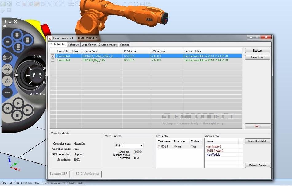 ABB Robots IRC5 Connectivity Tool